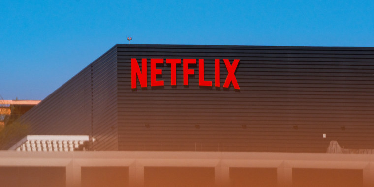 The Netflix office building in Los Angeles on April 19, 2021.
