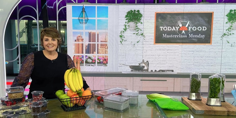 Jill Bauer on broadcast sharing food storage tips and hacks