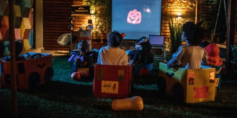 Backyard movie night