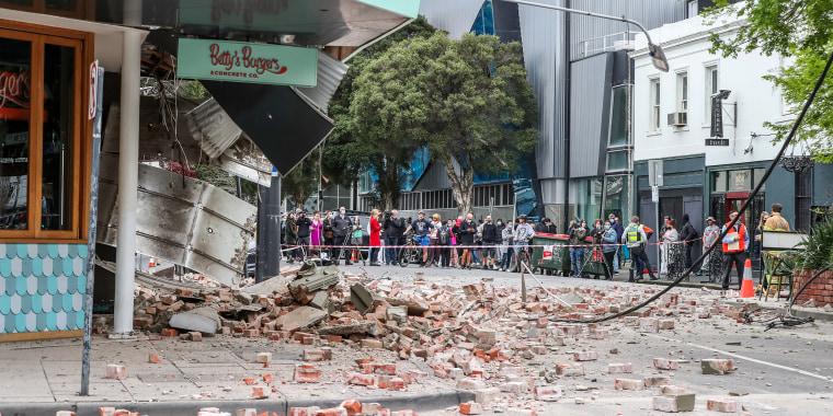 Image: Buildings Damaged In Melbourne Following Earthquake Felt Across South Eastern Australia