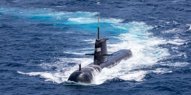 Royal Australian Navy submarine HMAS Rankin partakes in a biennial maritime exercise between the Royal Australian Navy and the Indian Navy on Sept. 5, 2021, in Darwin, Australia.