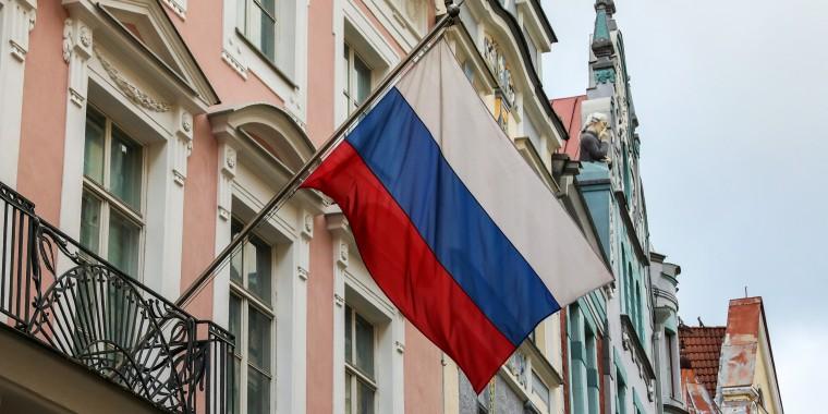 The Russian embassy in Tallinn, Estonia, Feb. 17, 2020.
