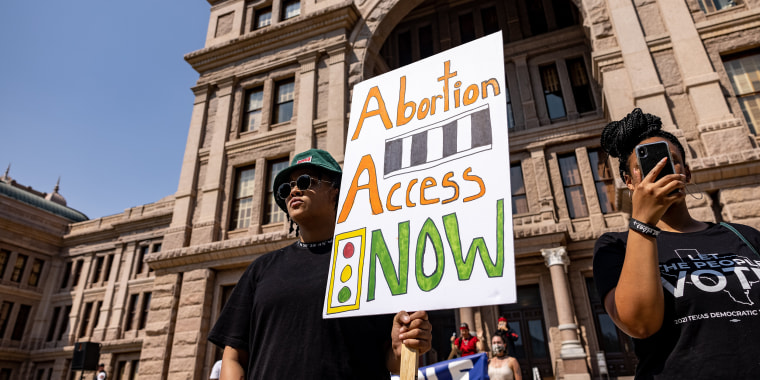 Image: Texans Rally At State Capitol Against New Abortion Bill
