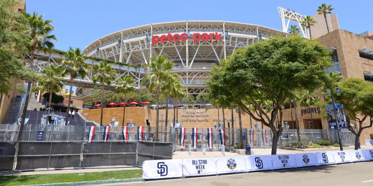 A general exterior view of PETCO Park in 2016.
