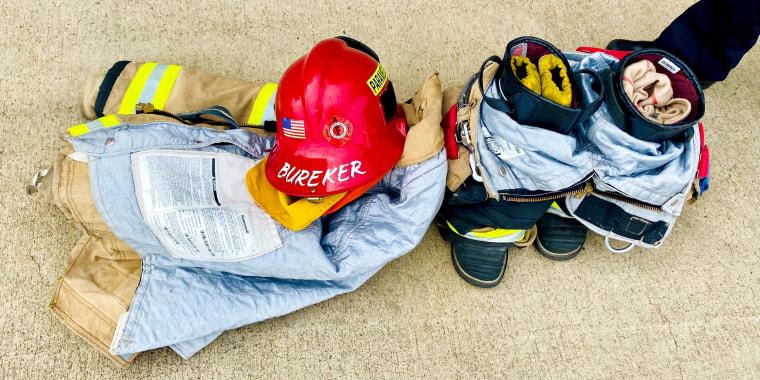Equipment belonging to Captain Karen Bureker.
