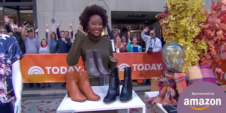 Makho Ndlovu on the TODAY plaza for a broadcast about luxe staples that will outshine everyday pieces in your closest