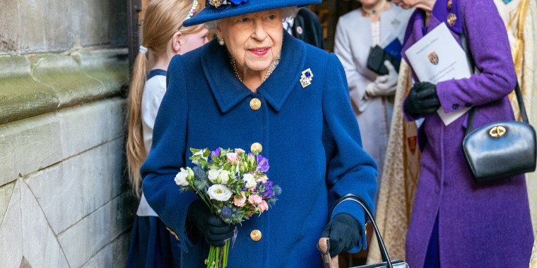 Image: The Queen And The Princess Royal Attend A Service Of Thanksgiving At Westminster Abbey