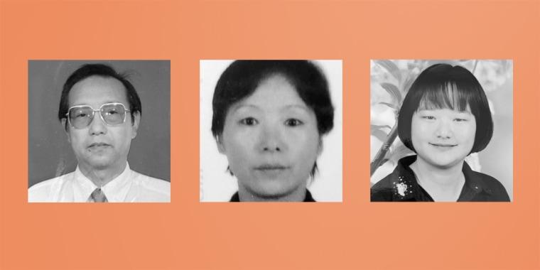 Image: Hongsheng Leng, wife Aihua Shen, daughter Ling Leng