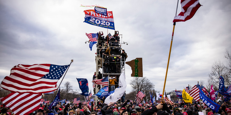 Image: Trump supporters storm the U.S. Capitol following a rally with President Donald Trump on Jan. 6, 2021.