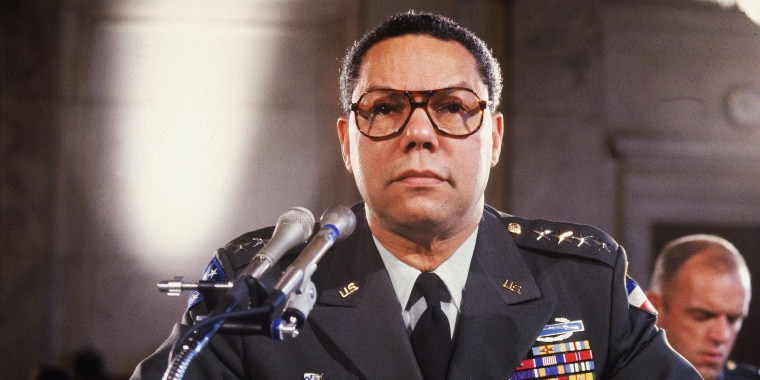 Gen. Colin Powell testifies before a Senate committee on his appointment as chairman of the Joint Chiefs of Staff on Sept. 20, 1993.
