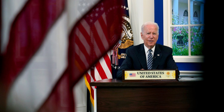 President Joe Biden participates virtually in the U.S.-ASEAN Summit from the White House on Oct. 26, 2021.