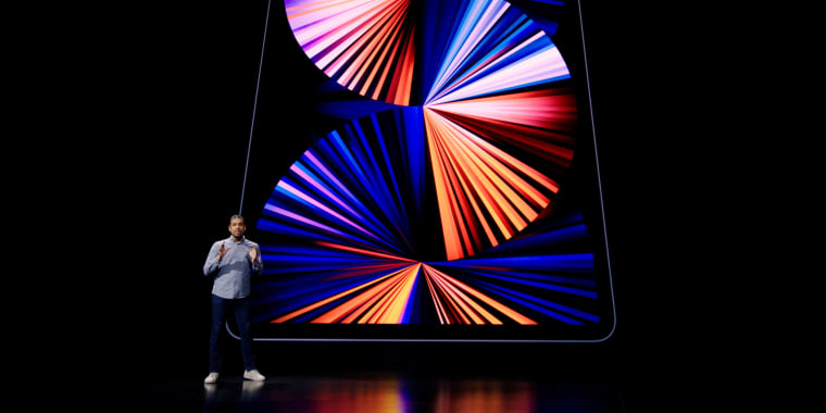 Image: Apple's Raja Bose introduces the new iPad Pro in Cupertino