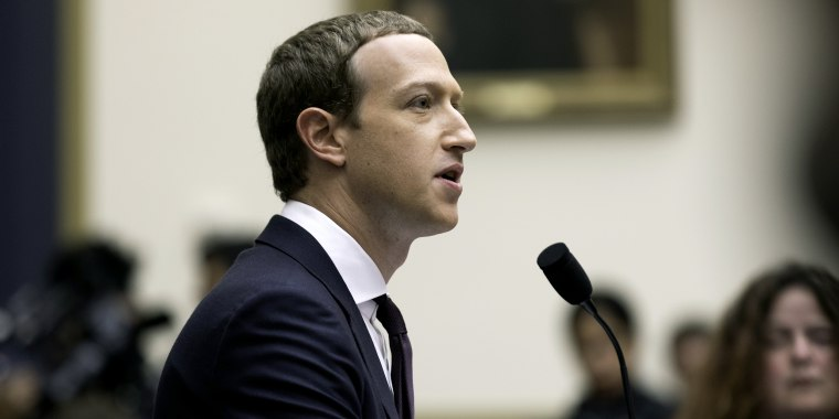 The Facebook CEO, Mark Zuckerberg, testified before the House Financial Services Committee on Oct. 23, 2019 in Washington, D.C.