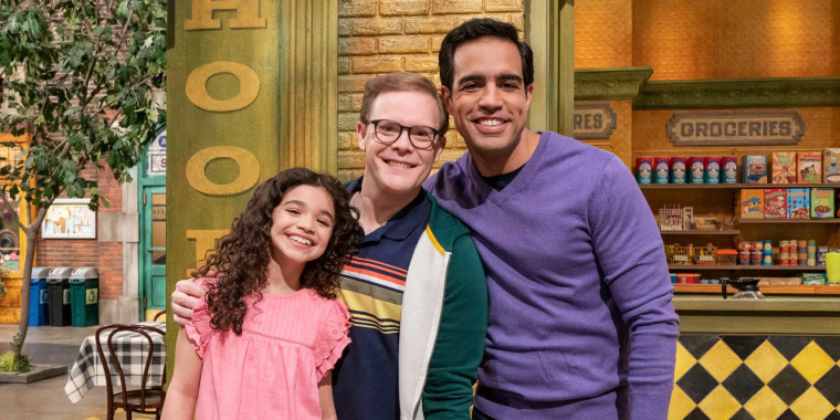 A dad named Frank, and a dad named Dave, join Sesame Street to mark Pride Month.