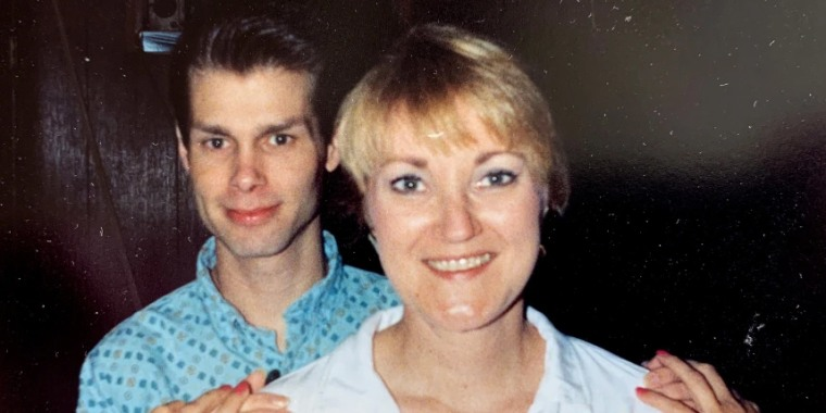 Coker Burks with Billy, who became one of her best friends before he died of AIDS at 24.