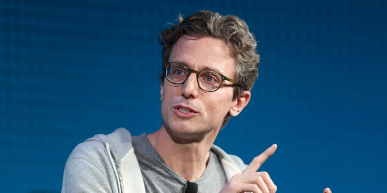 Jonah Peretti, founder and CEO of Buzzfeed, speaks at the Wall Street Journal Digital Conference in Laguna Beach, Calif., on Oct. 18, 2017.