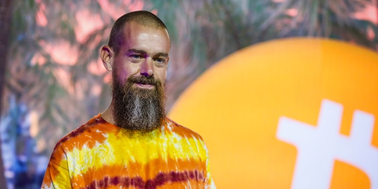 Jack Dorsey, co-founder and chief executive officer of Twitter Inc. and Square Inc., speaks during the Bitcoin 2021 conference in Miami on Friday, June 4, 2021.