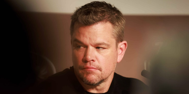 """Matt Damon attends the """"Stillwater"""" press conference during the 74th annual Cannes Film Festival on July 9, 2021, in Cannes, France."""