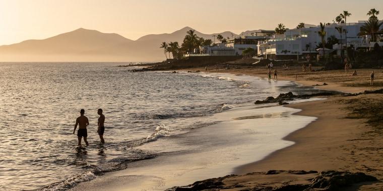 Image: Sunset in Puerto Del Carmen, Lanzarote, Spain on Nov. 21, 2020.