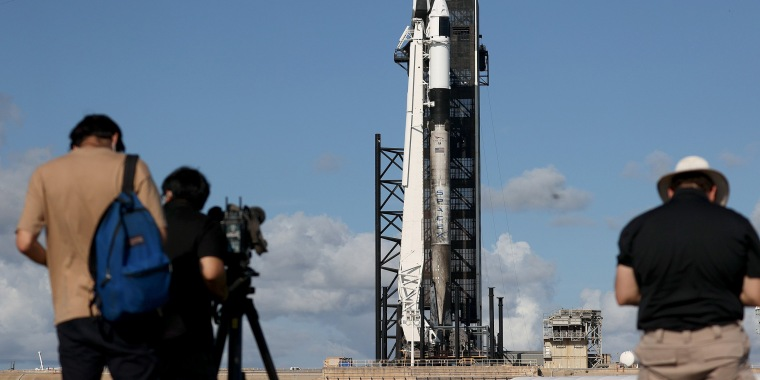 Image: Space X Prepares To Launch First Civilian Mission To Space