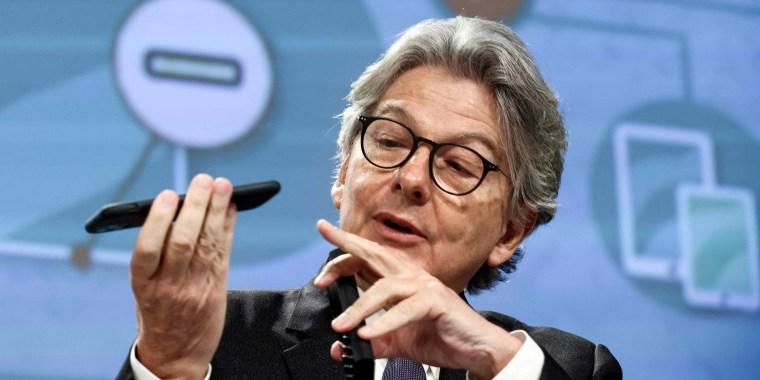 Image: BELGIUM-EU-POLITICS-INDUSTRY