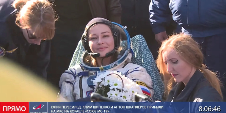 Image: Soyuz MS-18 space capsule lands near Zhezkazgan