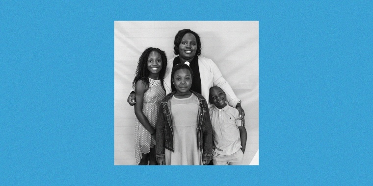 Pamela Ononiwu with her children.