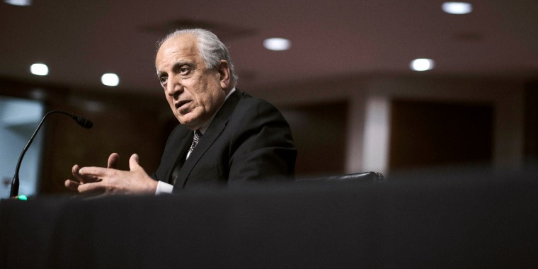 Zalmay Khalilzad, special envoy for Afghanistan Reconciliation, testifies before the Senate Foreign Relations Committee on April 27, 2021.
