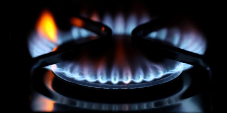 Las llamas de un hornillo de gas doméstico Durham, Reino Unido, el 23 de septiembre de 2021.