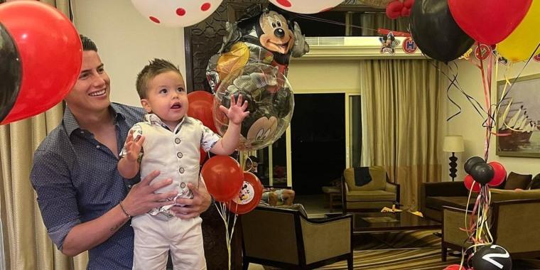 James Rodríguez en el segundo cumpleaños de su hijo Samuel