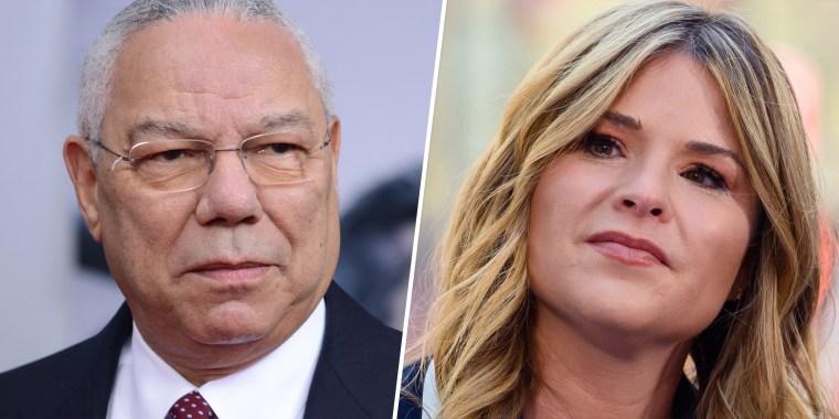 Jenna Bush Hager and Colin Powell