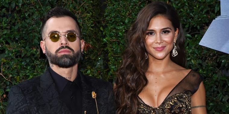Mike Bahía y Greeicy Rendón en la 20a entrega anual de los Premios GRAMMY Latinos. 14 de noviembre de 2019 en Las Vegas, Nevada.