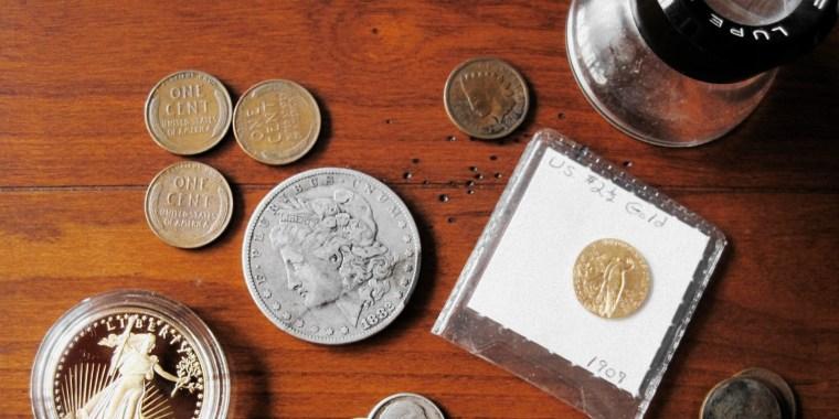 Colección de monedas raras de oro de Estados Unidos