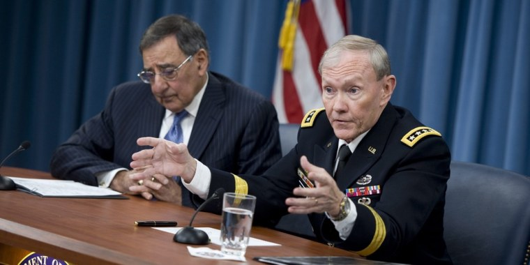 Martin Dempsey, chairman of the Joint Chiefs of Staff, pictured at