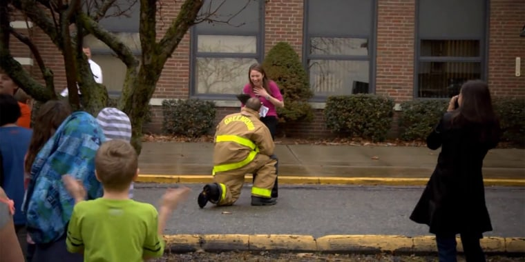 This Is Not A Drill Firefighter Stages Elaborate Adorable Proposal