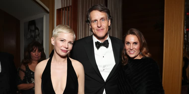 Actress Michelle Williams, Amazon SVP Jeff Blackburn and Anne Blackburn attend the Amazon Studios Oscar Celebration at Delilah on Feb. 26, 2017 in West Hollywood, Calif.
