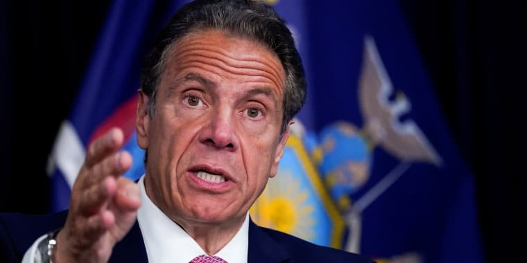 Image:New York Governor Andrew Cuomo speaks during a news conference, in New York, on May 10, 2021.
