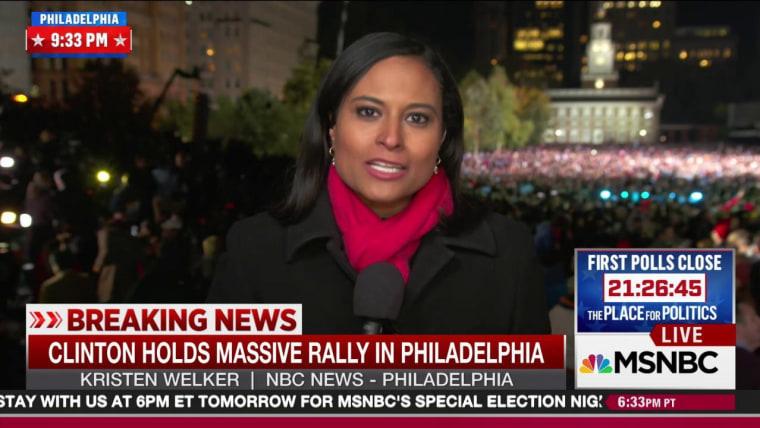 Clinton Hosts Major Show Of Force In Philadelphia