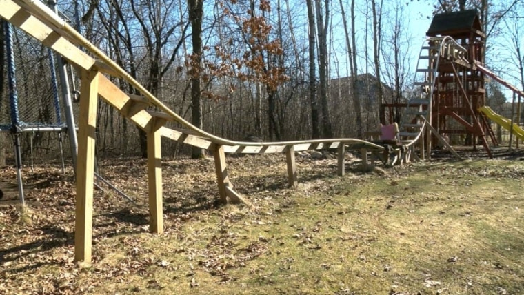 Backyard Roller Coaster For Kids