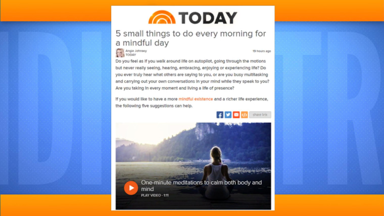 5 small things to do every morning for a mindful day