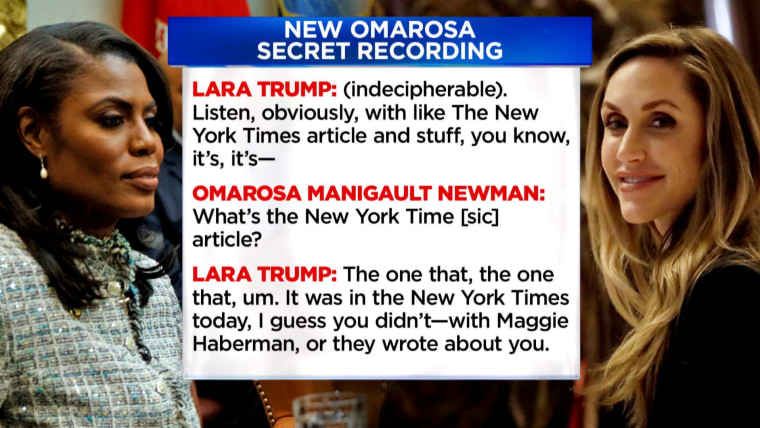 Omarosa releases secret tape of Lara Trump offering her $15K-a-month campaign job