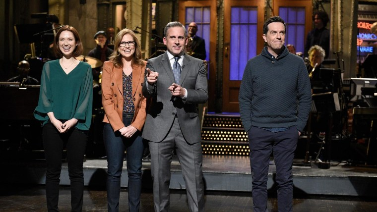 Steve Carell Hosts A Surprise Mini Office Reunion On Snl