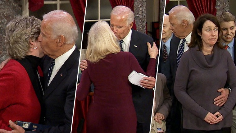 Image result for biden touching""