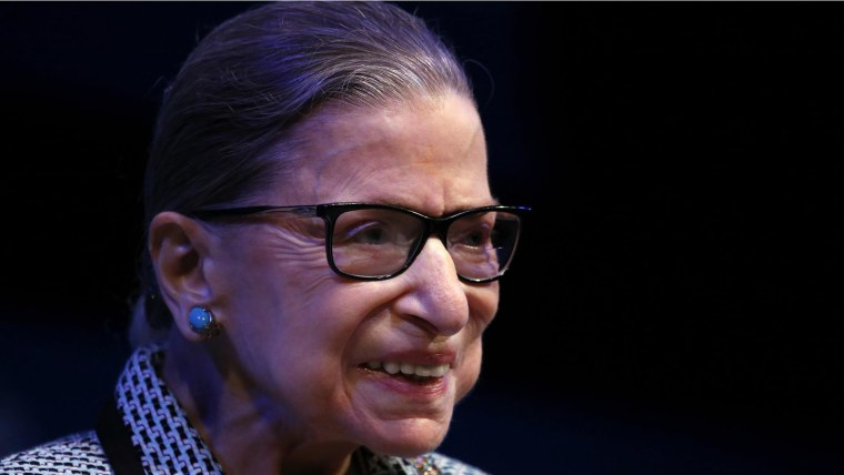 Ruth Bader Ginsburg speaks about being