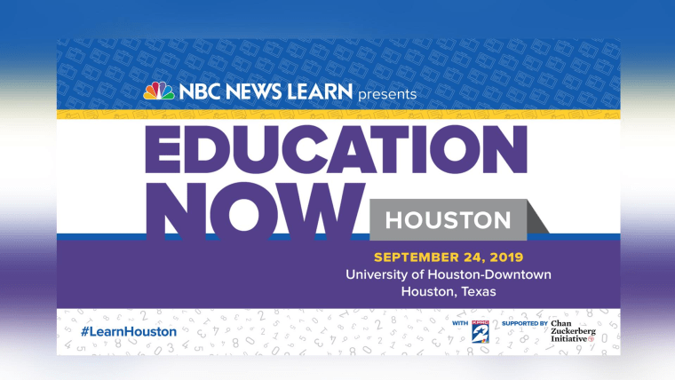 Watch Live Nbc News Learn Education Town Hall In Houston
