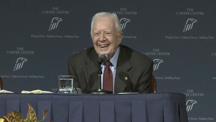 Former President Jimmy Carter 95 Feels Fine After Fall At Home