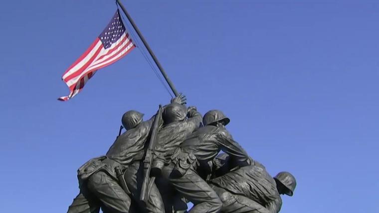 Warrior in iconic Iwo Jima flag-raising