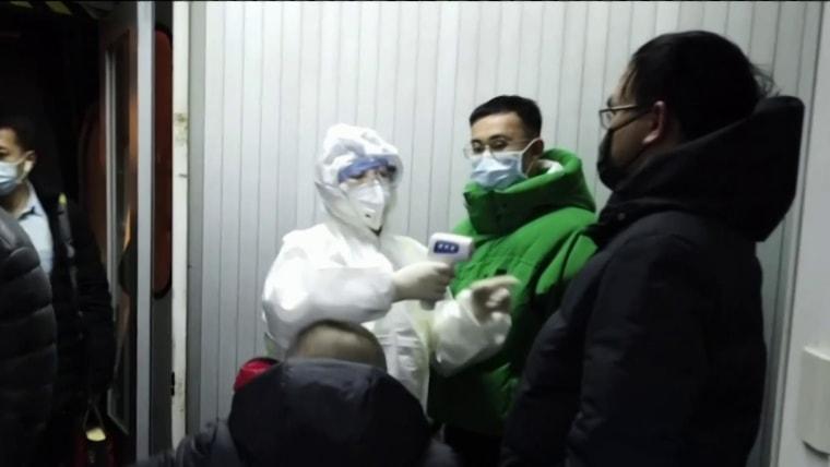 corona virus at wuhan china