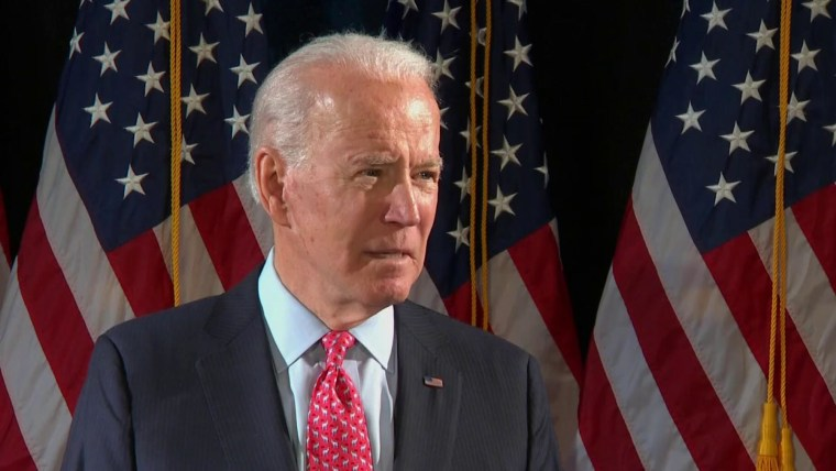 Presidential candidate Joe Biden on coronavirus outbreak
