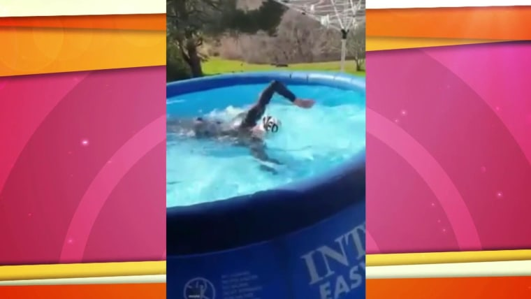 Olympic Swimmer Rigs Up Backyard